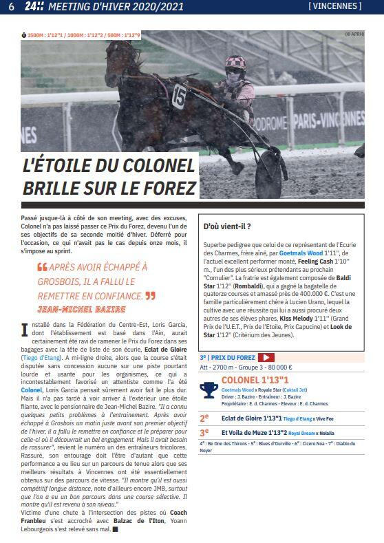 article le trot colonel