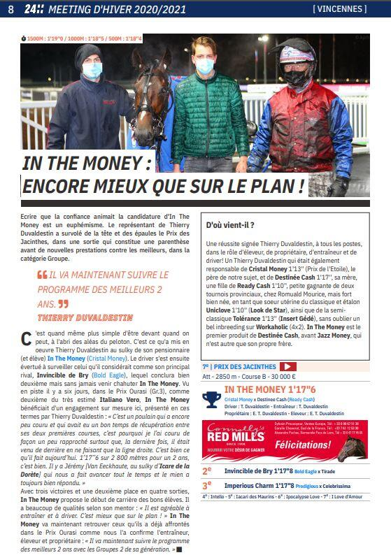 Article LE TROT In the money